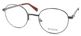 GUESS GU1969 006 Men's Eyeglasses Frames Round 50-21-145 Shiny Dark Nickeltin - $77.10
