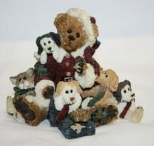 Boyds Bears Bearstone Figurine Kringle & Bailey w/ List Christmas #2235 ... - $19.79