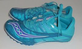 Saucony Racing Spitfire Womens 8 Sprint Track Shoes Teal Blue New Running - €40,58 EUR