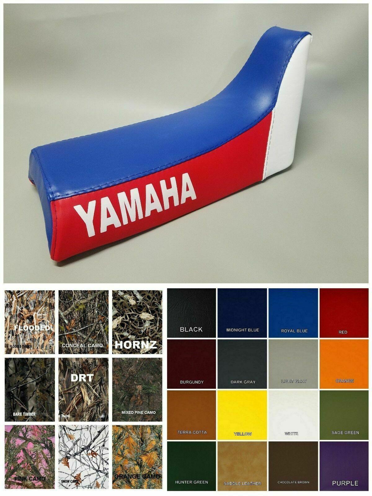 Primary image for Yamaha BW80 Seat Cover  in BLUE/WHITE/RED OR 25 COLORS  1986-1990 (SIDE ST)