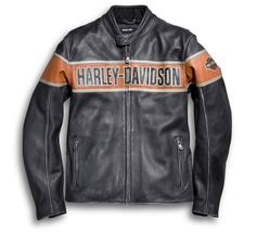 HARLEY DAVIDSON MOTORBIKE LEATHER RACING JACKET CE APPROVED - $180.00