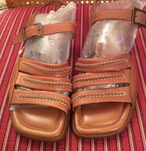 ECCO Womens Brown Leather Buckle Fisherman Sport Sandals 4.5UK - 6.5-7 USA - $54.99