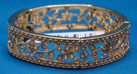 Charter Club Vintage Gold Tone and  FauxTopaz Stretch Bracelet - $5.99