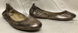 Women's Coach Delight Ballet Flats Sz.9.5B Gold Black Slip On Shoes Gent... - $553,48 MXN