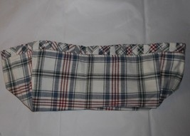 Longaberger Basket Fabric Liner Only Plaid 1994 Easter Jw Series White Red Blue - $13.33