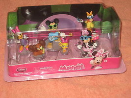 Disney Store Minnie Mouse 6 Figurine Playset New In Package! Exclusive. - $22.00
