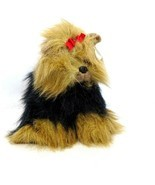 TY Yappy Yorkie Puppy Dog Red Bow Stuffed Animal Plush Toy with Hang Tag... - £15.94 GBP