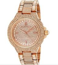 Michael Kors MK5862 Camille яσѕє gσℓ∂Pave Crystal Glitz 43mm Women's Watch - $131.67