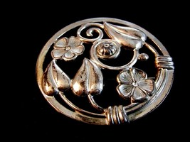 Vintage Lang Sterling Silver Flower Brooch - $54.99
