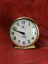 INGRAHAM  ALARM  CLOCK  WIND UP FOR PARTS ONLY GREAT LOOKING DIAL AND CASE