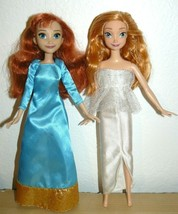 """Disney Frozen Elsa & Anna Dolls 11"""" in white and teal gown - $13.65"""