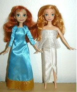 "Disney Frozen Elsa & Anna Dolls 11"" in white and teal gown - $13.65"