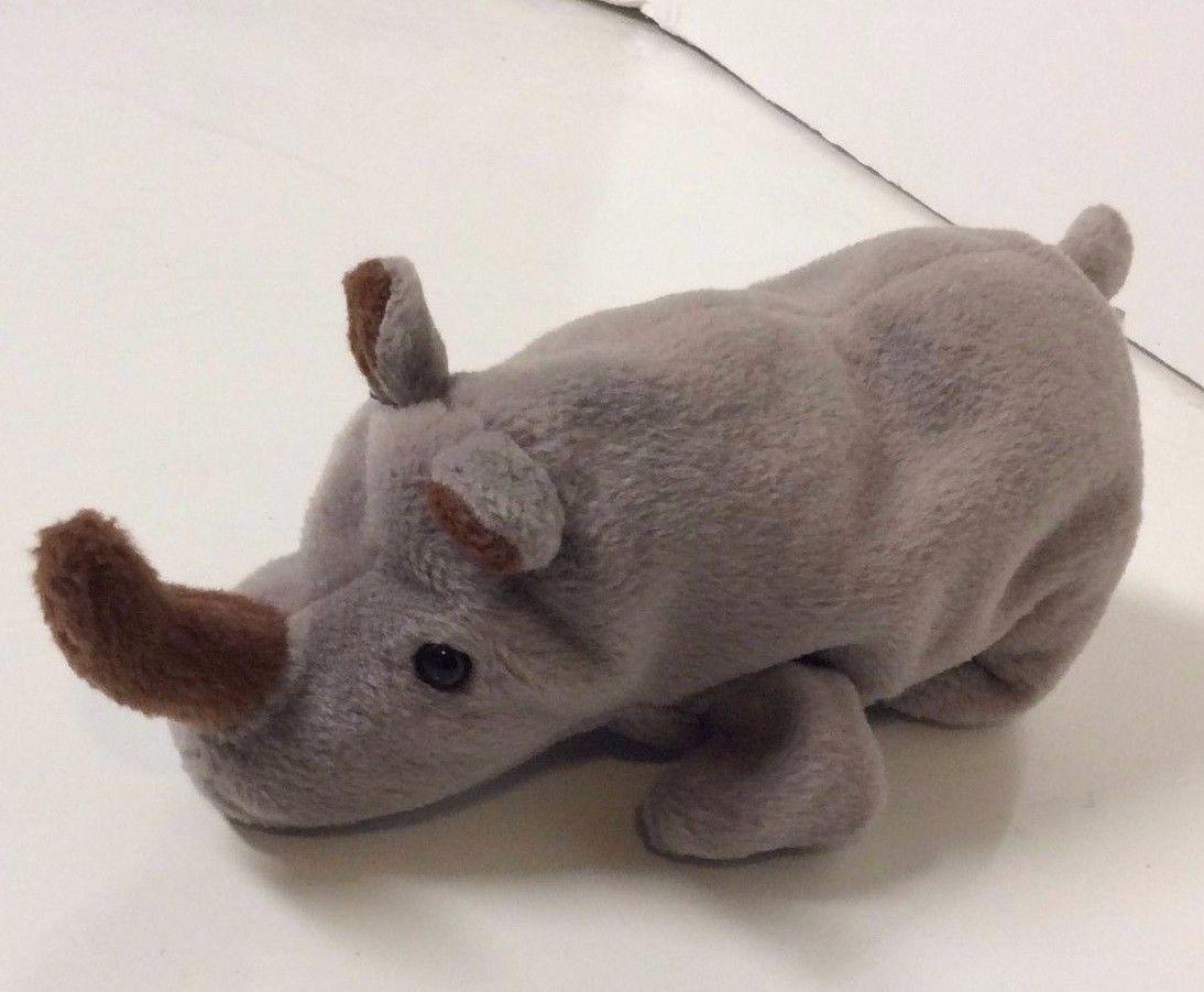 bce02a5fadb 1996 Spike Grey Rhino TY Beanie Baby and 11 similar items. S l1600
