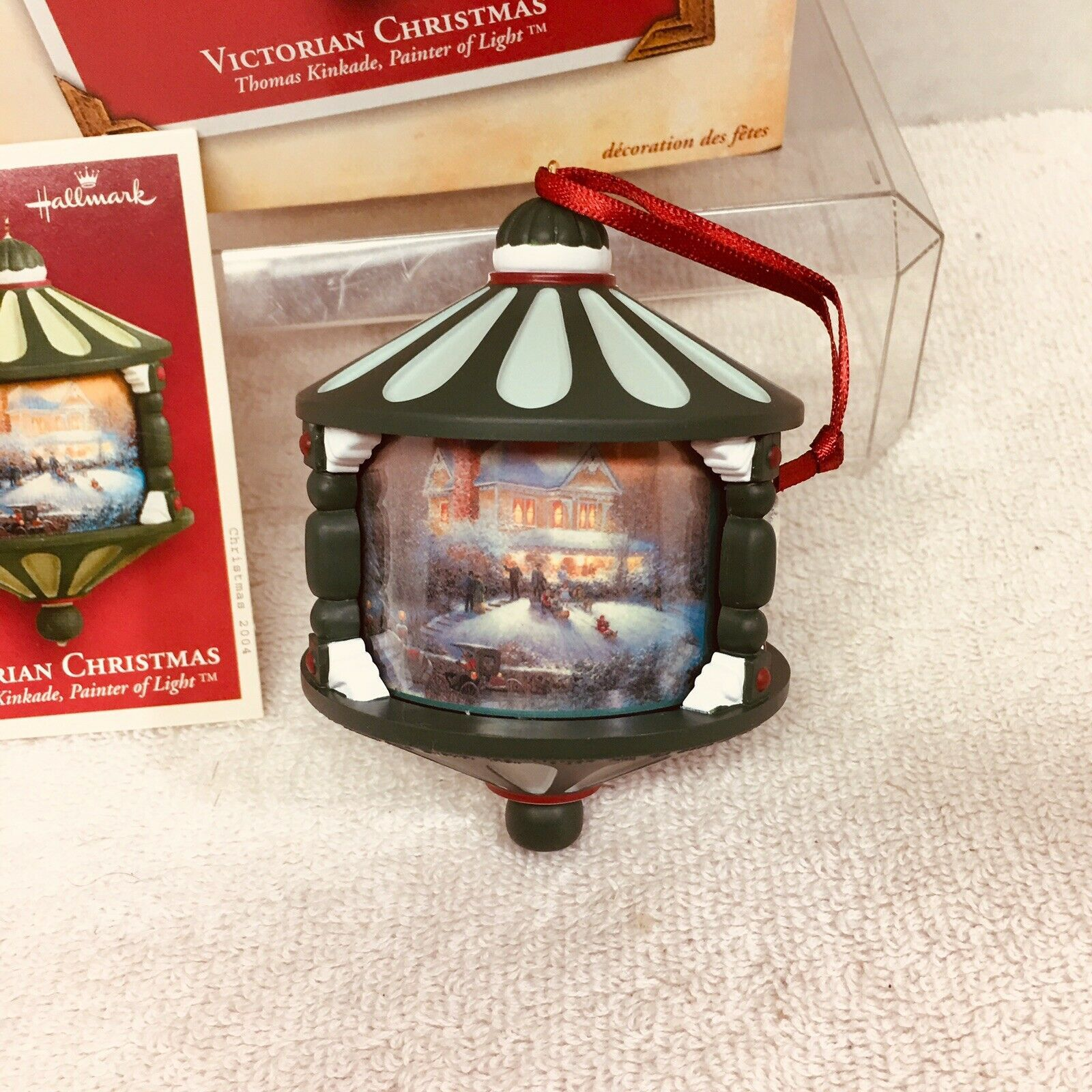 Primary image for 2004 Victorian Christmas Kinkade Hallmark Christmas Tree Ornament MIB Price Tag