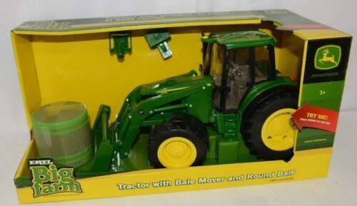 John Deere LP51314 Big Farm Tractor With Mover Round Bale Lights Sounds