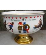 Charles Wysocki Ceramic Stem Bowl and Regular Bowl Christmas Love 1999-2... - $24.99