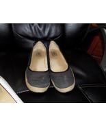 UGG Australia INDAH Black Canvas Flats Shoes BACK BOW detail Size 10 Wom... - $49.41