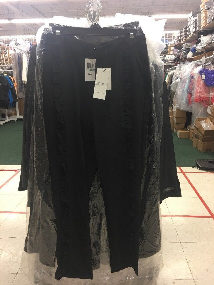 Primary image for Alpha Omega Ruffle Pants Black - NWT