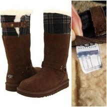 Ugg Australia Tall Maura Chocolate Brown 3286 Kid Youth Boot Zipper SIZE 5 - $58.41