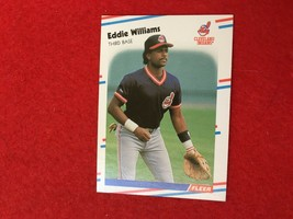 Baseball Trading Card Fleer 1988 #620 Eddie Williams (SS63) - $4.17