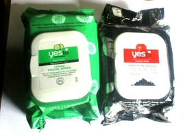 2 Pack - Yes to - Cucumbers, Tomatoes Calming & Detox Facial Wipes - 30 ... - $9.95