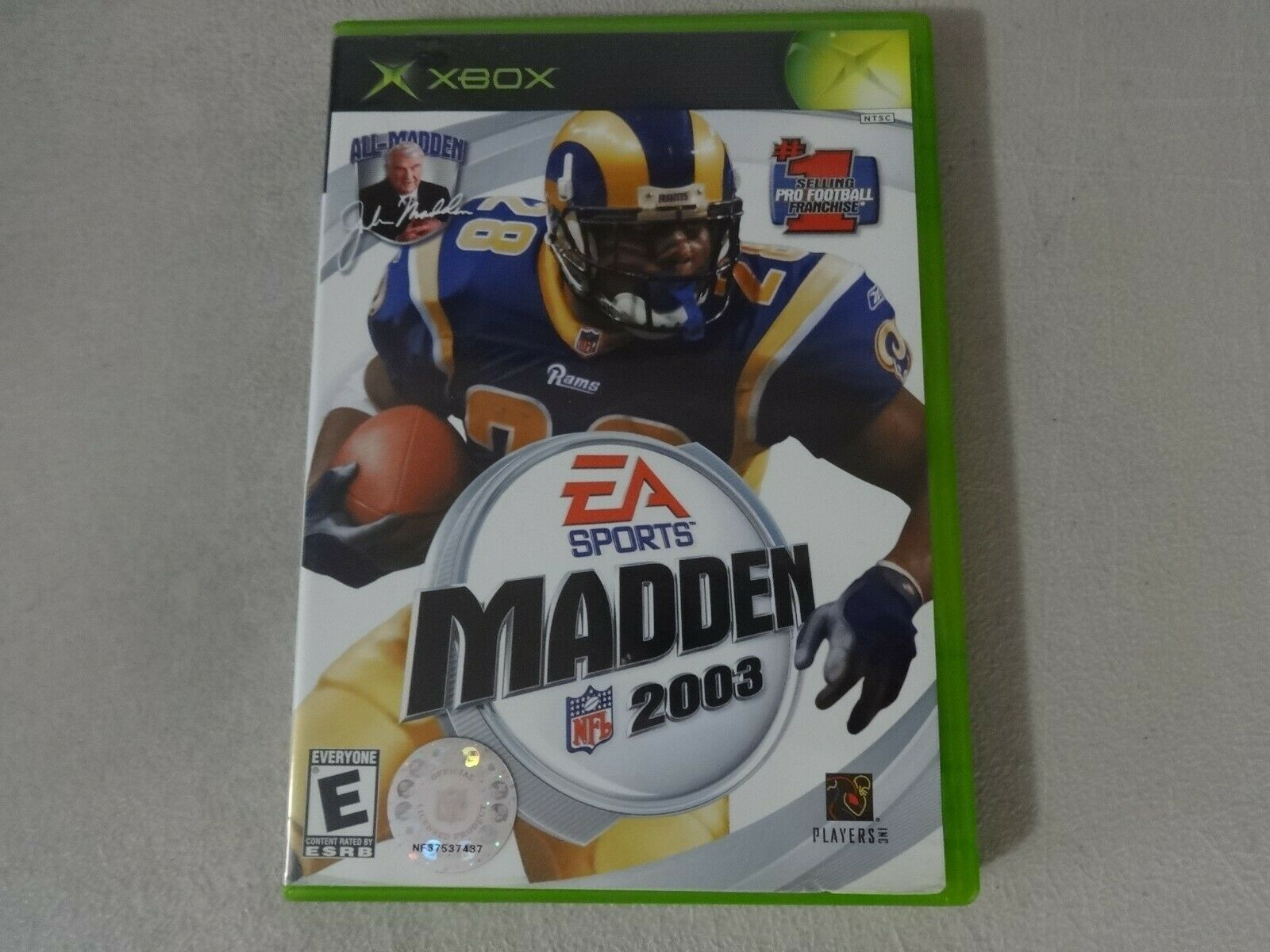Madden NFL 2003 Original Microsoft Xbox Game Disc and Case No Manual Free Ship