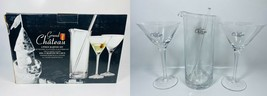 Grand Chateau Martini Glass and Pitcher - 4 Piece Set - $69.29