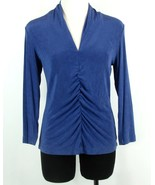 Chico's Travelers Size 1 (S, M) Fitted Stretchy Travel Knit Top - $19.99