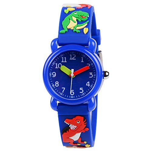 Venhoo Kids Watches 3D Cute Cartoon Waterproof Silicone Children Wrist Watches T