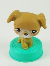 Hasbro Littlest Pet Shop Brown Dog Puppy With Brown Eyes - $8.32