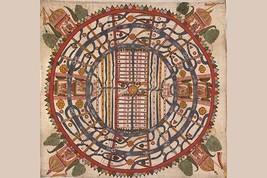 Manu?yaloka, map of the world of man, according to Jain cosmological traditions  - $19.99+