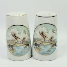 Vintage Lefton 1987 Salt & Pepper Shakers Pelicans 08114 - $14.65