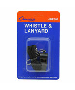 LOT OF 3 Champion All Sports Coach Referee BP601 Plastic Whistle w/ Lany... - $9.40