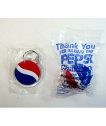 2 Pepsi Cola Keychains - Round Acrylic Globe Disc & Pesi Challenge Globe... - $11.99
