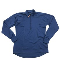 VINTAGE LL Bean Women's Blue Base Layer 1/4 Zip Active Size Small MADE I... - $23.53