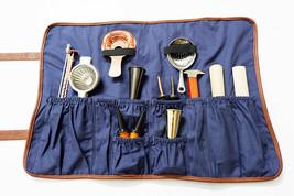 Kingdom® Barware Roll-Up Bartender Mixologist Bag Bartenders Roll Up Kit... - $30.39
