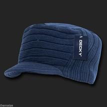 Navy Blue Knit Flat Top Jeep Cadet Visor B EAN Ie Military Hat Cap - $27.07