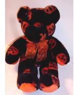 "Black Orange Bear Pumpkin Print Plush Halloween Fiesta 12"" Sit Height 16... - $24.70"