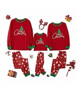 Family Matching Sleepwear Christmas Print Pajamas Nightwear Indoor Wear ... - $51.48