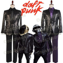 Daft Punk COSplay Costume Outfit Sparking Sequin Coat Attire Shirt Jacke... - $106.57 CAD+