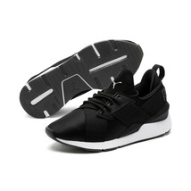 Puma Muse Satin II Low Top Slip On Womens Black/White Lace Up Trainers/S... - $85.67