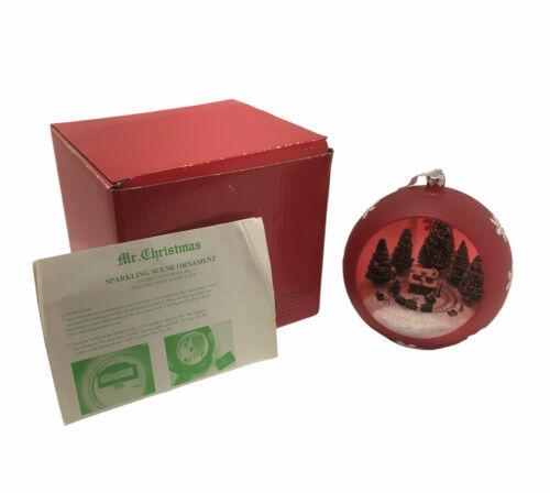 Mr. Christmas Sparkling Scene Ornament Animated Train Tree Lights *NO SOUND* - $19.99