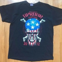 Gildan men's black UPROAR FESTIVAL 2012 concert  t-shirt SIZE Large - $16.48