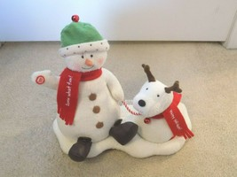 Hallmark Jingle Pals Animated Musical Snowman and Dog-FREE SHIPPING! - $19.77