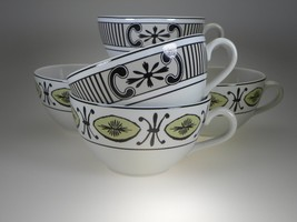 Spode Cafe Archive Collection Cups Set Of 5 Made In England - $23.33