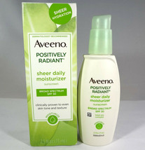 Aveeno - Postively Radiant Sheer Daily Moisturizer SPF 30 - 2.5oz *READ*... - $15.90