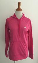 Adidas Pink Hooded Hoodie Sweateshirt sz Small - $16.82