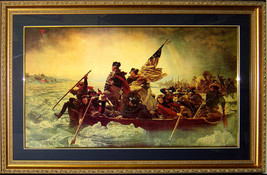 George Washington The Crossing Of The Delaware Custom Framed FINEST QUALITY - $153.45