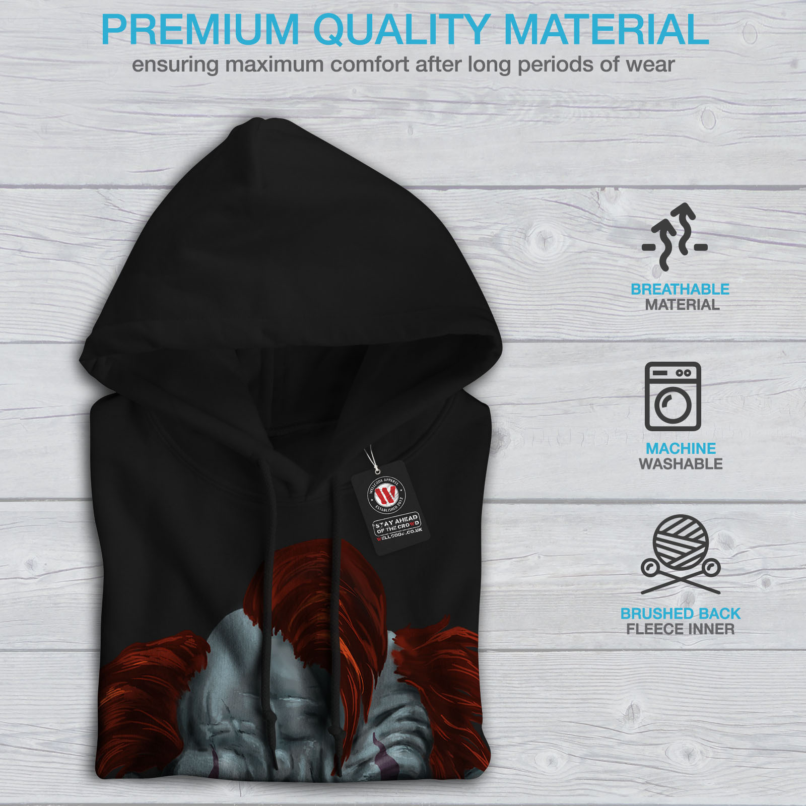 Scary Art Pullover Jumper wellcoda Death Slogan End Womens Sweatshirt
