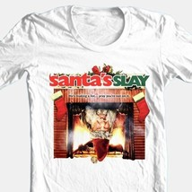 Santa's Slay T-shirt Free Shipping retro horror slasher movie cotton white tee image 2